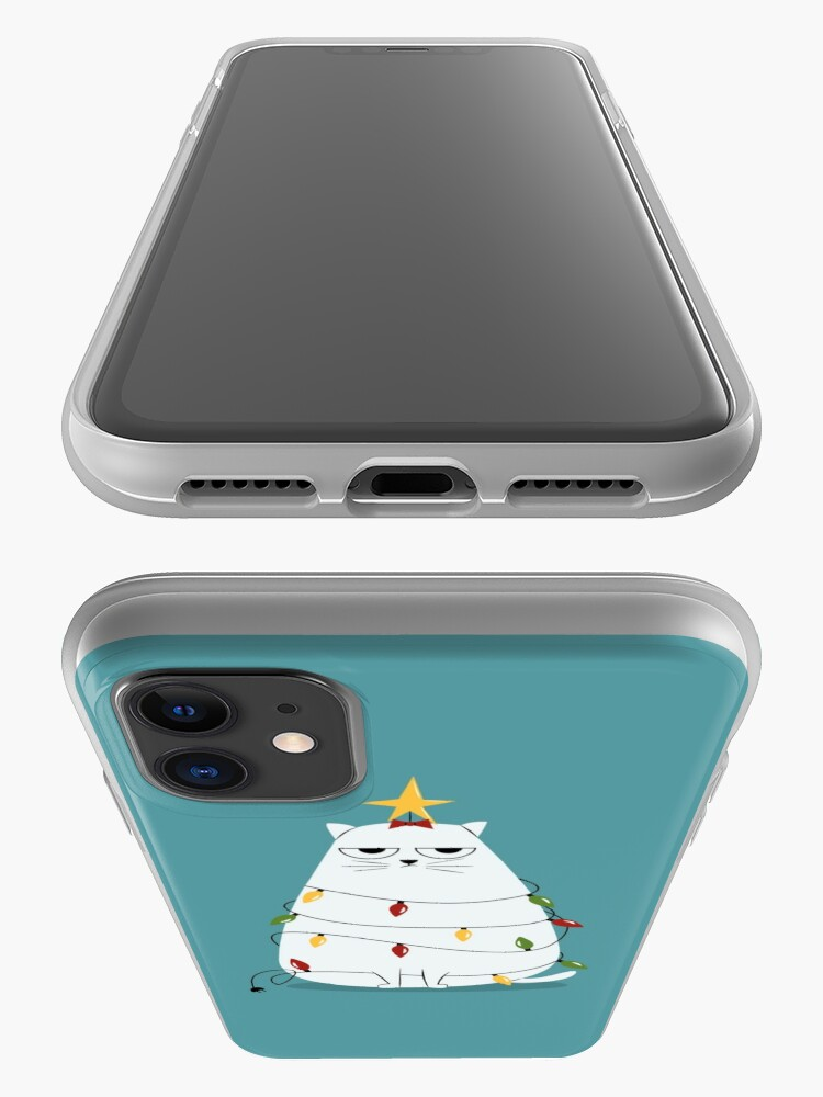 Alternate view of Grumpy Christmas Cat iPhone Case & Cover