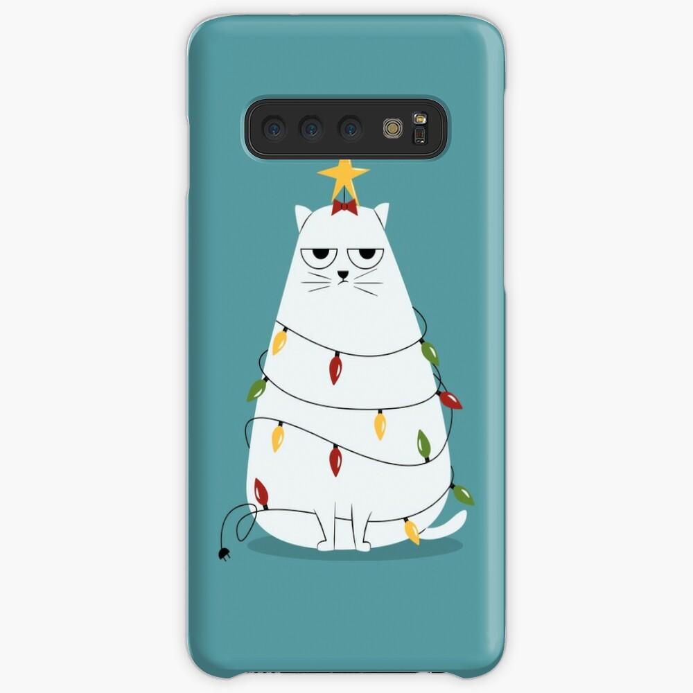 Grumpy Christmas Cat Case & Skin for Samsung Galaxy