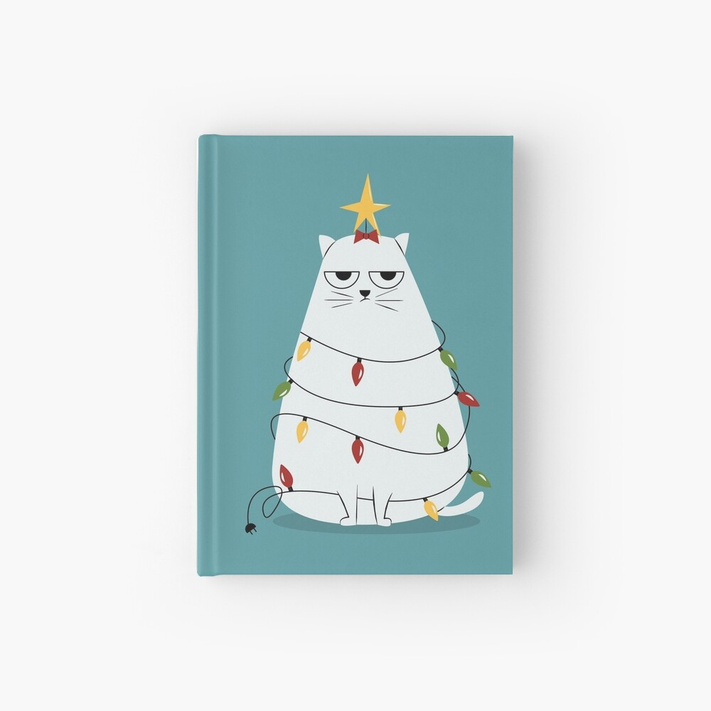 Grumpy Christmas Cat Hardcover Journal