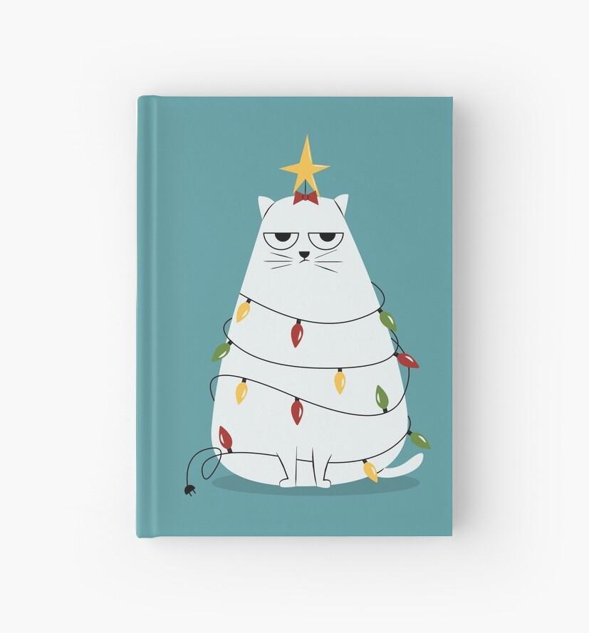 Grumpy Christmas Cat by cartoonbeing