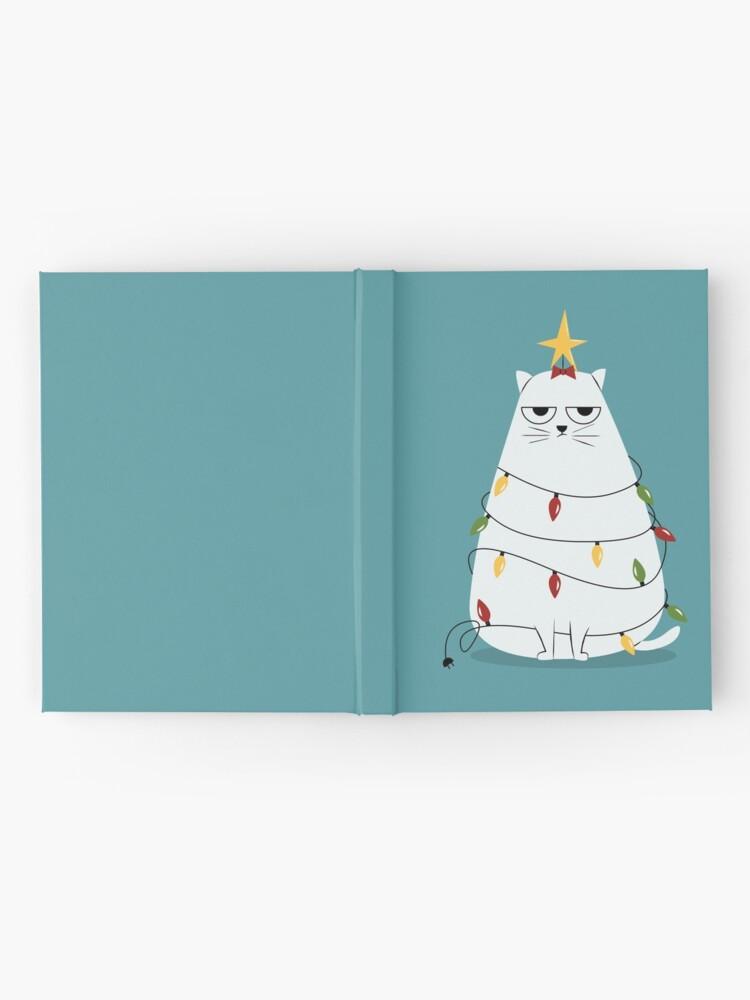 Alternate view of Grumpy Christmas Cat Hardcover Journal