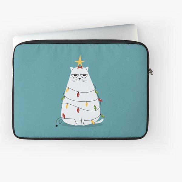 Grumpy Christmas Cat Laptop Sleeve