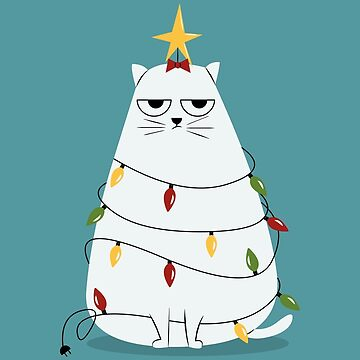 Grumpy Christmas Cat de cartoonbeing