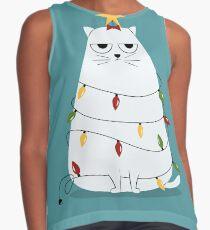 Blusa sin mangas Grumpy Christmas Cat