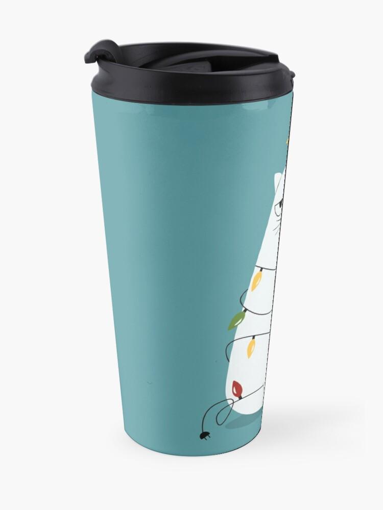 Alternate view of Grumpy Christmas Cat Travel Mug