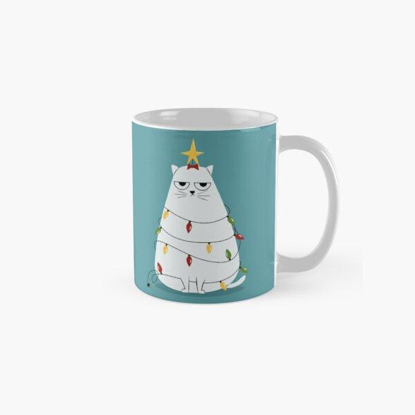 Grumpy Christmas Cat Classic Mug