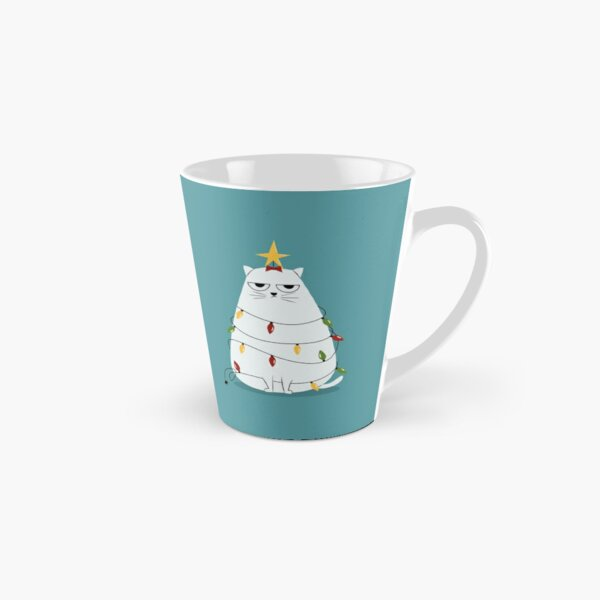 Grumpy Christmas Cat Tall Mug