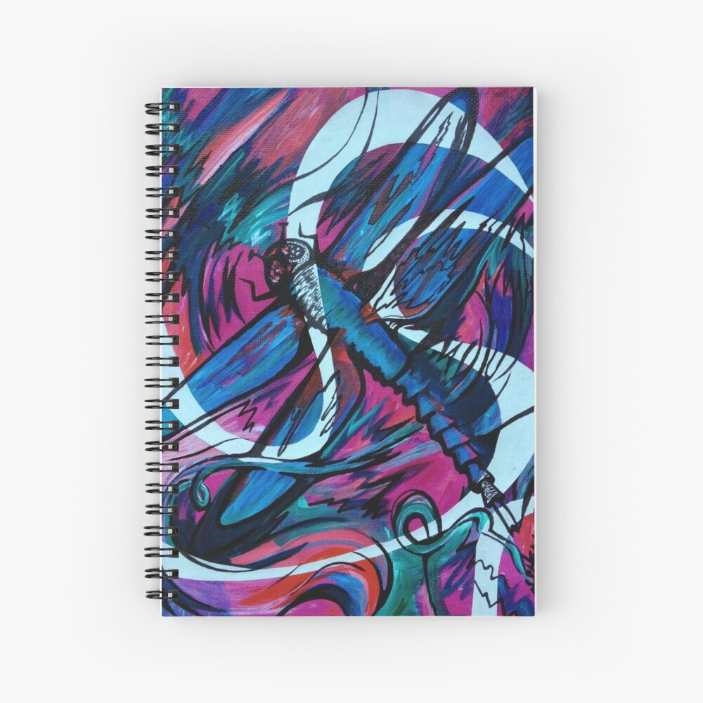 Dragonfly Dance Spiral Notebook
