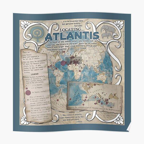Locating Atlantis (blue)  Poster