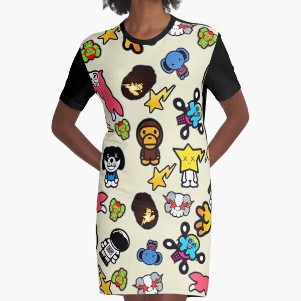 Bathing Ape Collage Graphic T-Shirt Dress