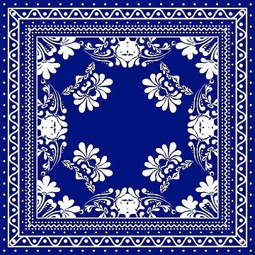 Blue Bandana Design #1 by Chunga
