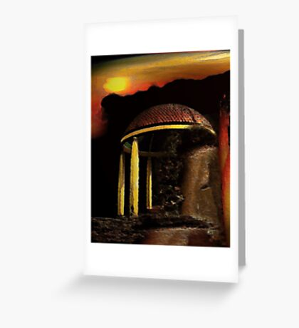 ancient pavilion....... abstract time structures Greeting Card