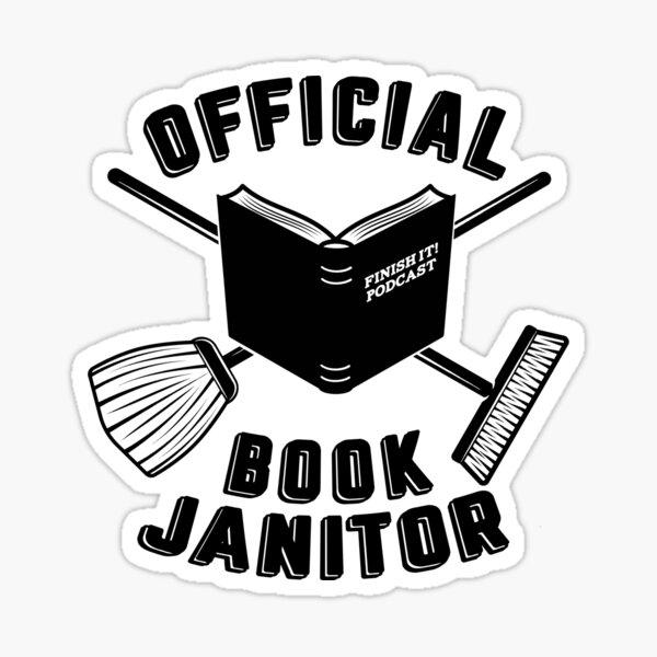 Book Janitor (black) Sticker