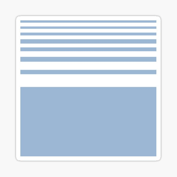 PANTONE COLOR OF THE YEAR 2000 CERULEAN WITH DIMINISHING STRIPES Sticker