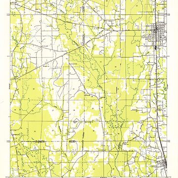 USGS TOPO Map Louisiana LA Amite 333616 1949 31680 by wetdryvac