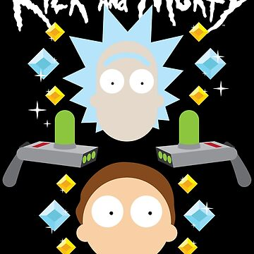 RICK and MORTY flat lay (with logo) by castl3t0ndesign