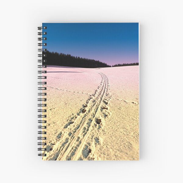 Cross country skiing | winter wonderland | landscape photography Spiral Notebook