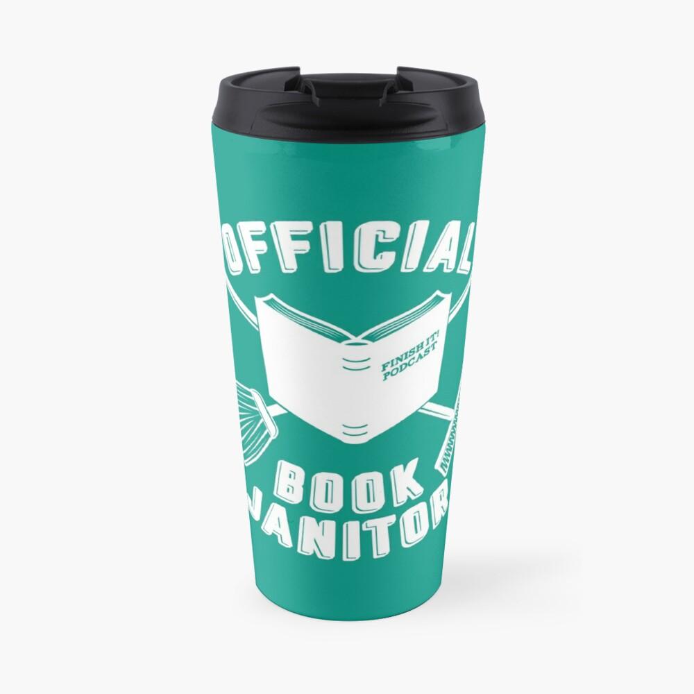 Book Janitor (white) Travel Mug