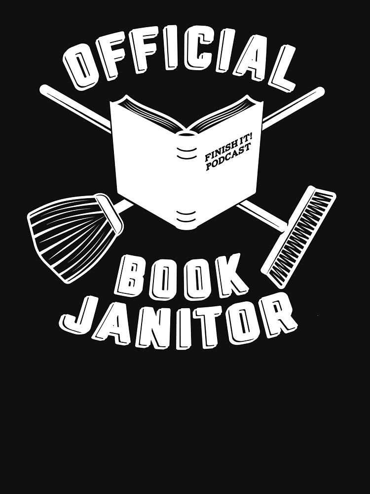 Book Janitor (white) by FinishItPod