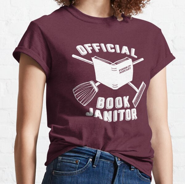 Book Janitor (white) Classic T-Shirt