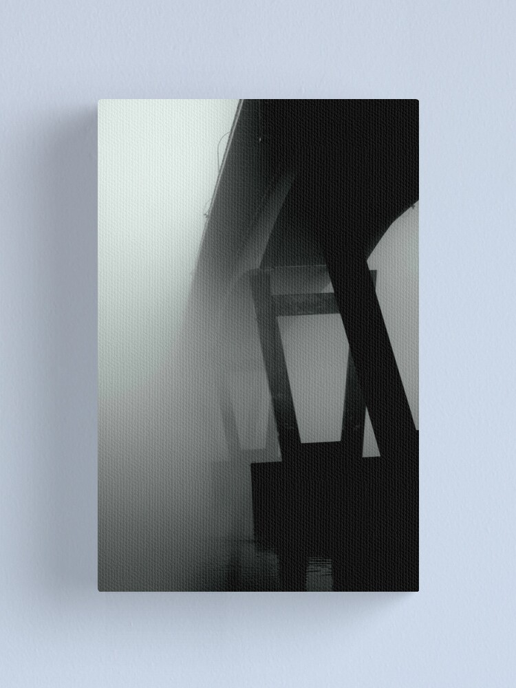 Alternate view of  Mission Bridge in the Fog Canvas Print
