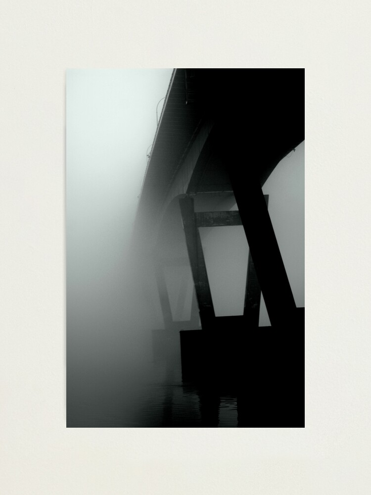 Alternate view of  Mission Bridge in the Fog Photographic Print