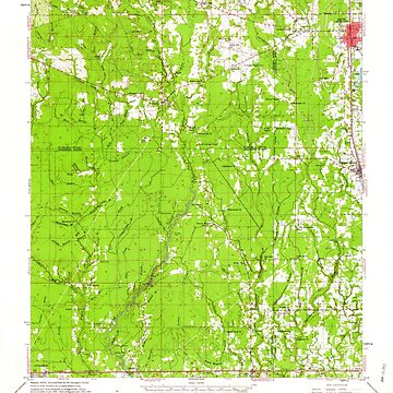 USGS TOPO Map Louisiana LA Amite 334205 1959 62500 by wetdryvac