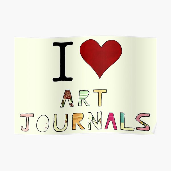 I Heart Art Journals! Poster
