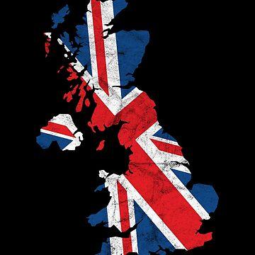 'United Kingdom' Cool Flag United Kingdom  by leyogi