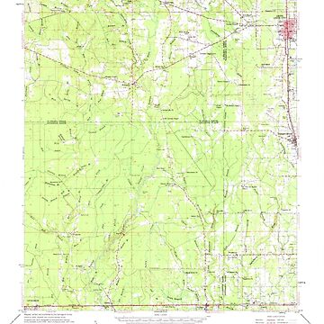USGS TOPO Map Louisiana LA Amite 334207 1959 62500 by wetdryvac
