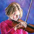 Violin Girl by whiterabbitart