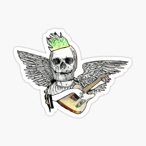 Hail the Skull King of Rock 'n' Roll Sticker