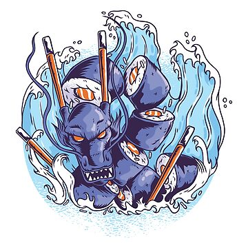 Sushi Water Dragon by litteposterco