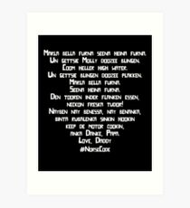 Molly - Norse Code from Peter and Starcatchers WHITE TEXT Art Print