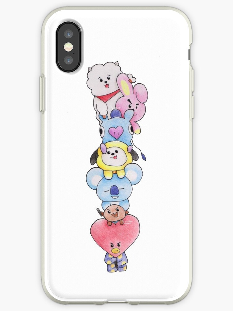 size 40 cb7e2 d4e2d 'BTS BT21' iPhone Case by snivybelinda