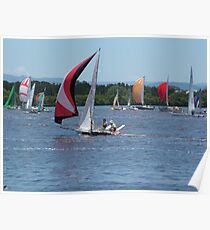 Spinnakers Catching the Breeze Poster