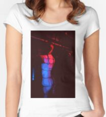 Artistic impression of a woman from behind Women's Fitted Scoop T-Shirt