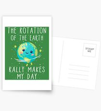 Die Rotation der Erde macht meinen Tag wirklich aus Postkarten