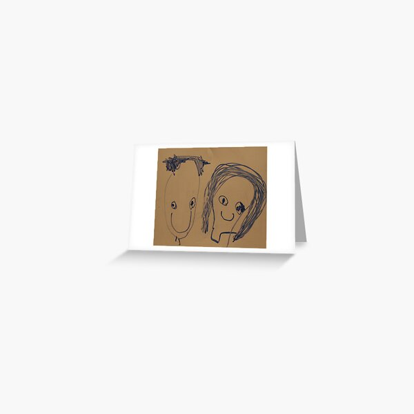 Child Portrait Drawing Greeting Card