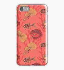 Fishes on living coral background iPhone 7 Case