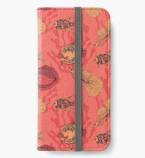 Fishes on living coral background iPhone Wallet/Case/Skin
