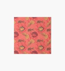 Fishes on living coral background Art Board