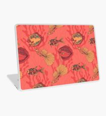 Fishes on living coral background Laptop Skin