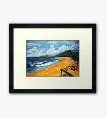 Springs Beach and the Weatherman Framed Print