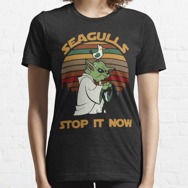 Sunset retro style Seagulls stop it now Essential T-Shirt