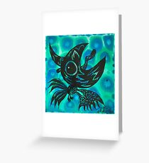 the black crow shout out to the moon  Greeting Card