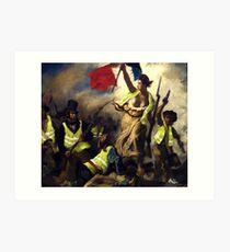Lámina artística La libertad guiando a los Gilet Jaunes