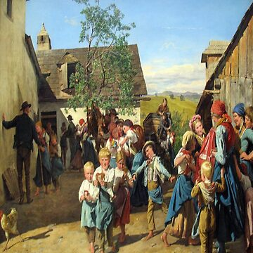 Return from the Church Fair-Ferdinand Georg Waldmüller by LexBauer