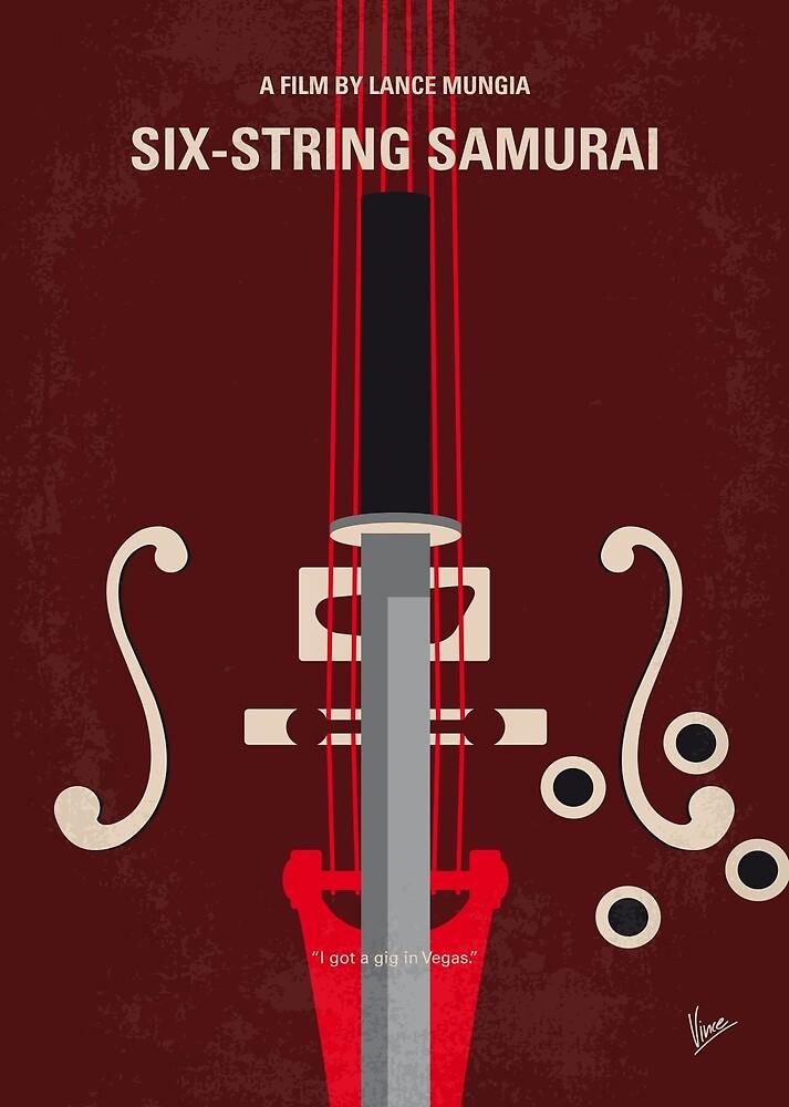 No1020 Mein Six-String Samurai-Minimalfilmposter von ChungKong Art