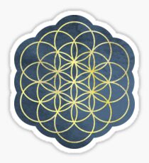 Flower of Life Mandala Watercolor Sticker